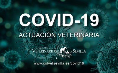 Sección web EXCLUSIVA con todas las novedades sobre la pandemia del COVID-19 y su relación con la actuación del profesional veterinario