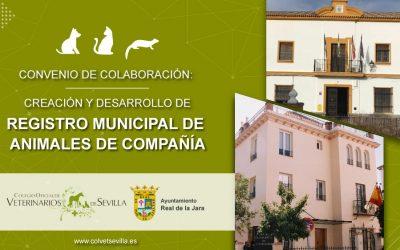 El Ayuntamiento de El Real de la Jara firma un convenio con el Colegio de Veterinarios de Sevilla para la identificación de animales de compañía