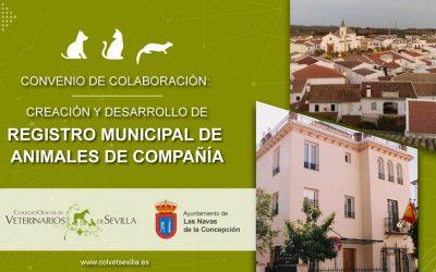 Las Navas de la Concepción firma un convenio con el Colegio de Veterinarios de Sevilla para la identificación de animales de compañía