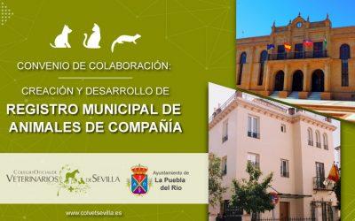 La Puebla del Río firma un convenio con el Colegio de Veterinarios de Sevilla para la identificación de animales de compañía