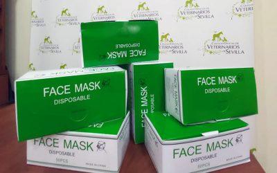 El Colegio de Veterinarios de Sevilla distribuye mascarillas quirúrgicas entre sus colegiados ante la COVID-19