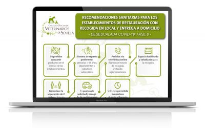 Recomendaciones sanitarias para los establecimientos de restauración con recogida en local y entrega a domicilio